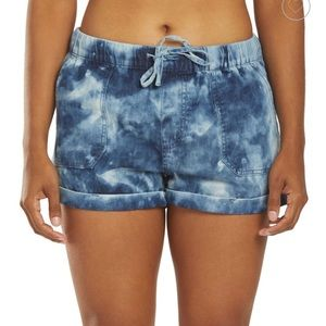 Volcom sunday strut shorts blue tie dye small